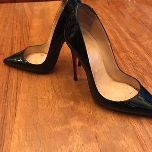 Louboutin pigale patent leather heels